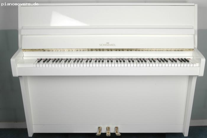 pianomovers schimmel klavier 112 wei hochglanz. Black Bedroom Furniture Sets. Home Design Ideas
