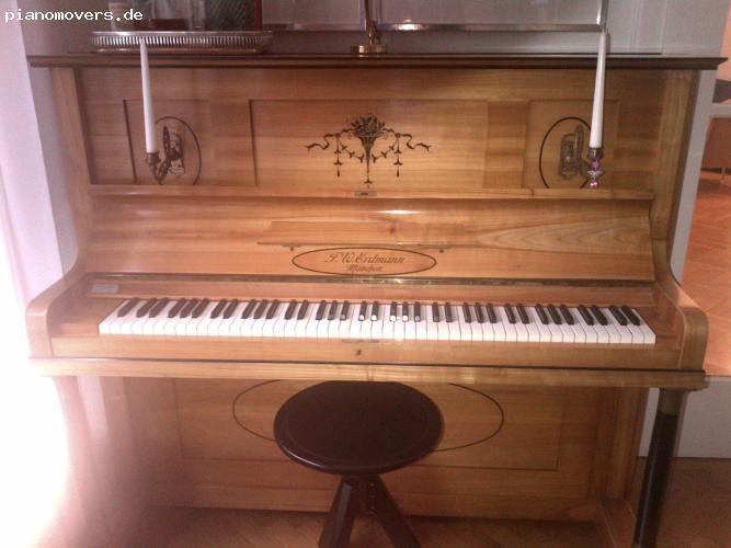 pianomovers top zustand f w erdmann klavier neue mechanik. Black Bedroom Furniture Sets. Home Design Ideas