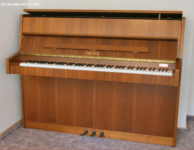 pianomovers gepflegtes sauter klavier modell 108 nussbaum. Black Bedroom Furniture Sets. Home Design Ideas