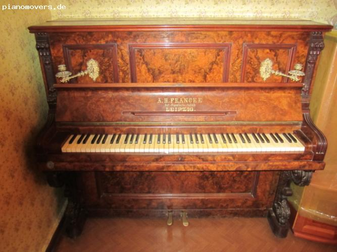 pianomovers gut erhaltenes a h francke leipzig klavier. Black Bedroom Furniture Sets. Home Design Ideas