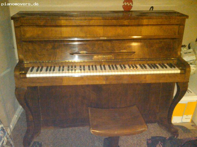 pianomovers wundersch nes klingmann klavier im. Black Bedroom Furniture Sets. Home Design Ideas